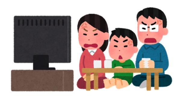 テレビに起こる家族