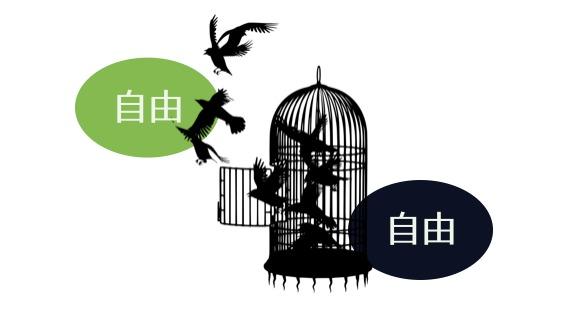 消極的な自由と、積極的な自由