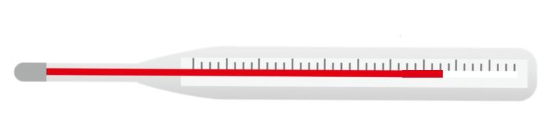 アナログの体温計